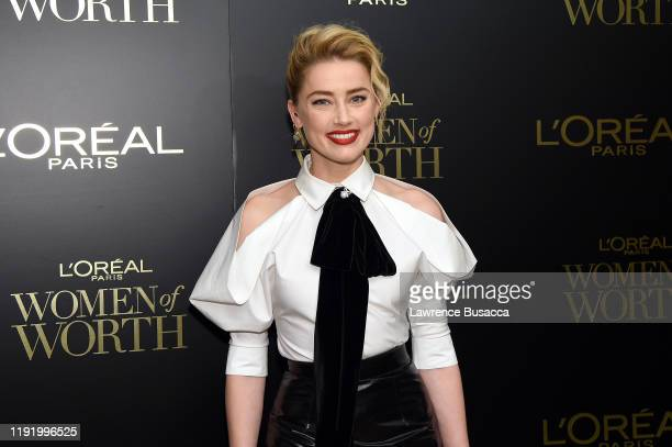 Amber Heard attends the 14th Annual L'Oréal Paris Women Of Worth Awards at The Pierre on December 04 2019 in New York City
