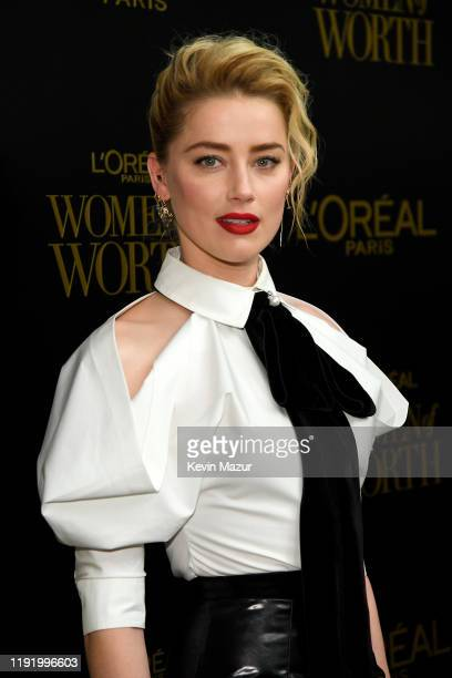 Amber Heard attends the 14th Annual L'Oréal Paris Women Of Worth Awards at The Pierre on December 04, 2019 in New York City.