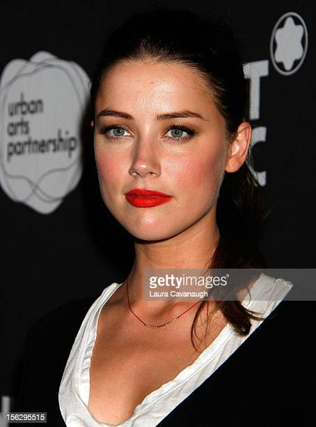 Amber Heard attends the 2012 24 Hour Plays On Broadway Gala at BB King Blues Club Grill on November 12 2012 in New York City