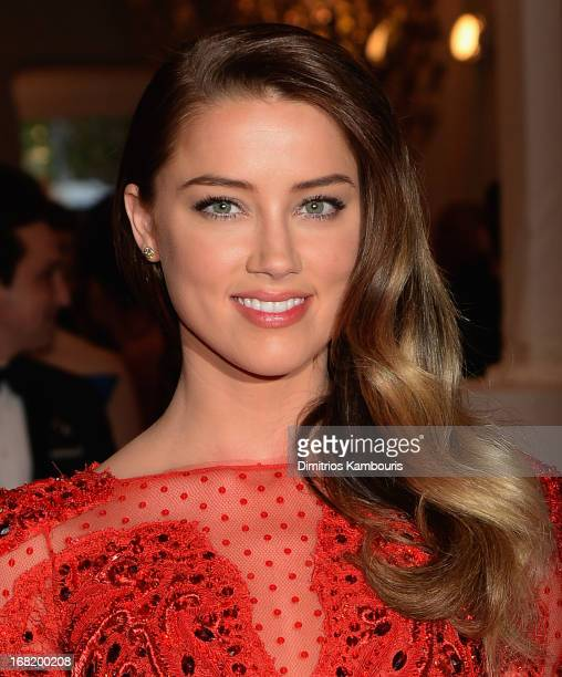 Amber Heard attends the 2013 Costume Institute Gala PUNK Chaos to Couture at Metropolitan Museum of Art on May 6 2013 in New York City