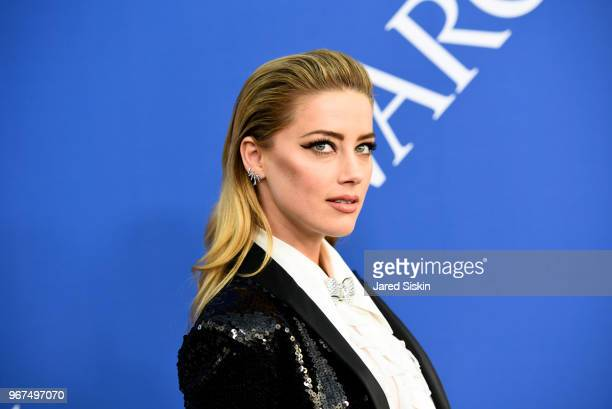 Amber Heard attends the 2018 CFDA Fashion Awards at Brooklyn Museum on June 4 2018 in New York City