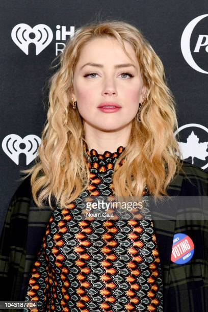 Amber Heard attends the 2018 Global Citizen Festival Be The Generation in Central Park on September 29 2018 in New York City