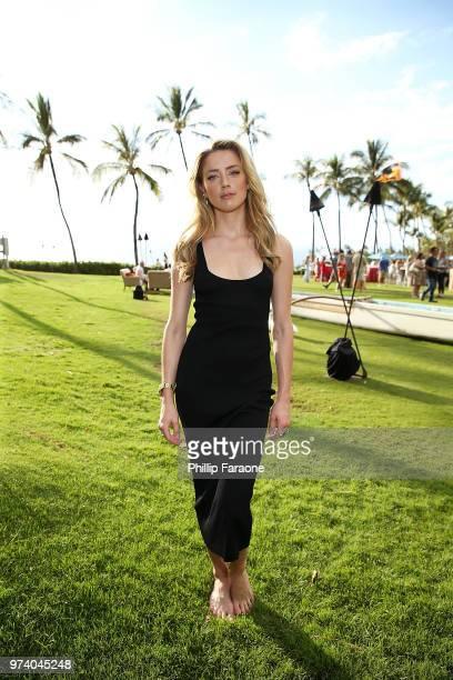 Amber Heard attends the 2018 Maui Film Festival's Taste of Summer opening party on June 13 2018 in Wailea Hawaii