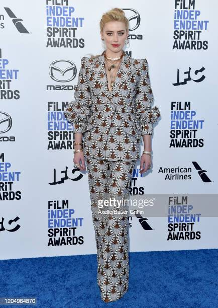 Amber Heard attends the 2020 Film Independent Spirit Awards on February 08 2020 in Santa Monica California