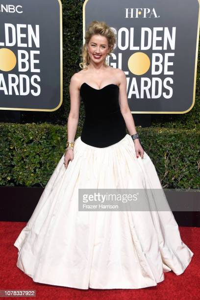 Amber Heard attends the 76th Annual Golden Globe Awards at The Beverly Hilton Hotel on January 6 2019 in Beverly Hills California