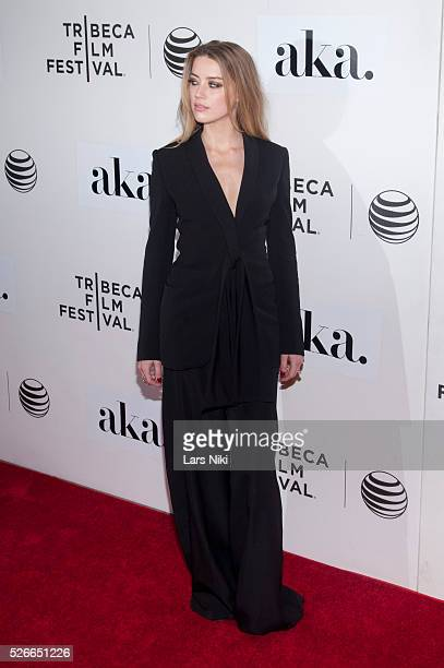 Amber Heard attends 'The Adderall Diaries' premiere during the 2015 Tribeca Film Festival at the BMCC in New York City �� LAN