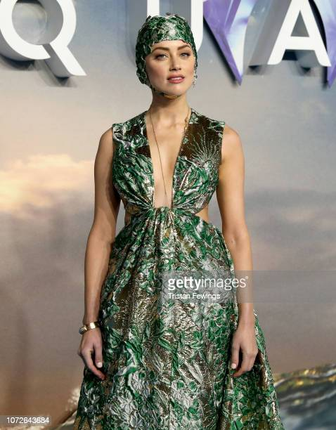 Amber Heard attends the 'Aquaman' world premiere at Cineworld Leicester Square on November 26 2018 in London England
