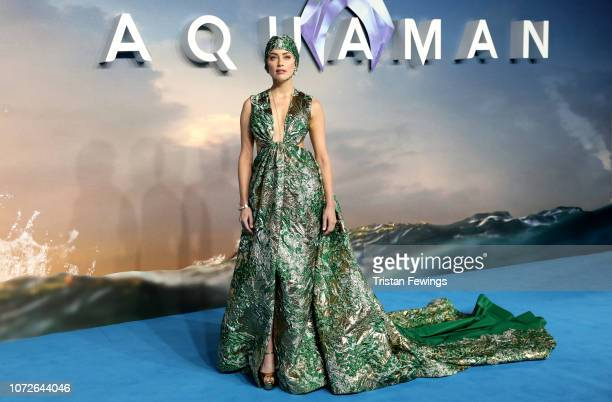 Amber Heard attends the Aquaman world premiere at Cineworld Leicester Square on November 26 2018 in London England