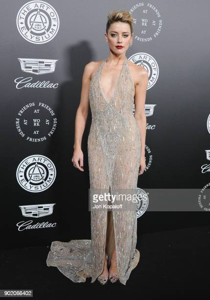 Amber Heard attends The Art Of Elysium's 11th Annual Celebration Heaven at Barker Hangar on January 6 2018 in Santa Monica California