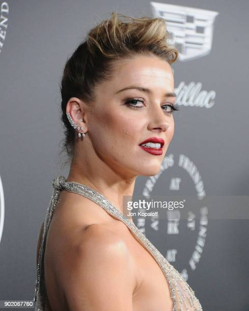 Amber Heard attends The Art Of Elysium's 11th Annual Celebration Heaven at Barker Hangar on January 6 2018 in Santa Monica California