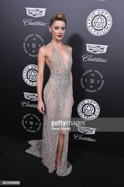 Amber Heard attends The Art Of Elysium's 11th Annual Celebration on January 6 2018 in Santa Monica California