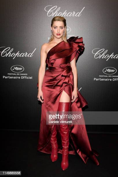Amber Heard attends the Chopard Love Night photocall on May 17, 2019 in Cannes, France.
