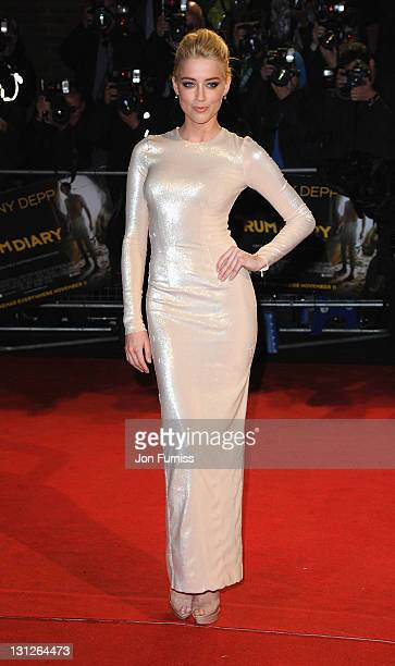 Amber Heard attends the European Premiere of 'The Rum Diary' at the Odeon Kensington on November 3 2011 in London England