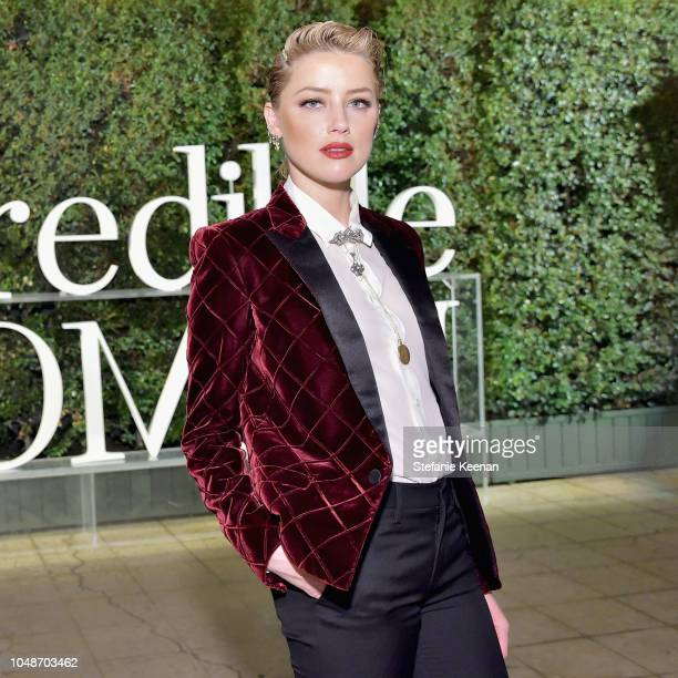 Amber Heard attends the PORTER Incredible Women Gala 2018 at Ebell of Los Angeles on October 9 2018 in Los Angeles California