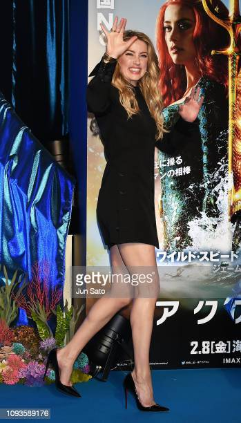 Amber Heard attends the premiere of 'Aquaman' at the United Cinemas Odaiba on February 4 2019 in Tokyo Japan