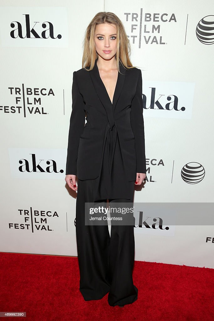 Amber Heard attends the premiere of 'The Adderall Diaries' during the 2015 Tribeca Film Festival at BMCC Tribeca PAC on April 16, 2015 in New York City.