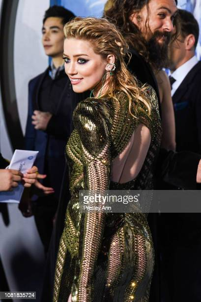 Amber Heard attends the premiere of Warner Bros Pictures' Aquaman at TCL Chinese Theatre on December 12 2018 in Hollywood California