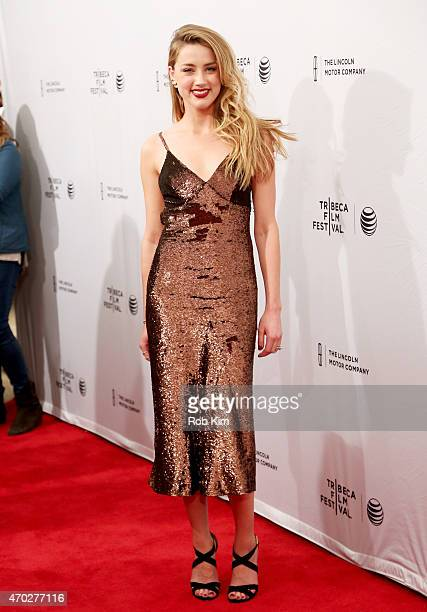 Amber Heard attends the premiere of 'When I Live My Life Over Again' during the 2015 Tribeca Film Festival at the SVA Theater on April 18 2015 in New...