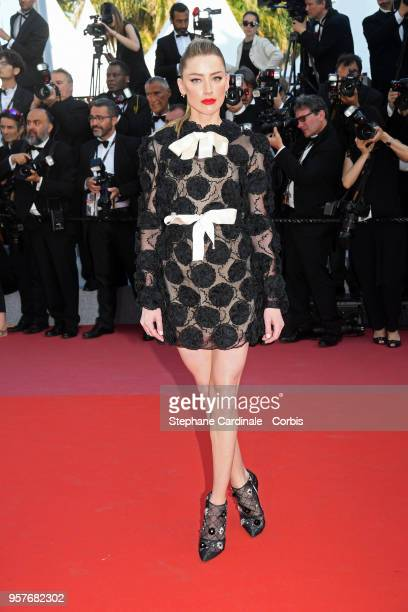 """Amber Heard attends the screening of """"Girls Of The Sun """" during the 71st annual Cannes Film Festival at Palais des Festivals on May 12, 2018 in..."""