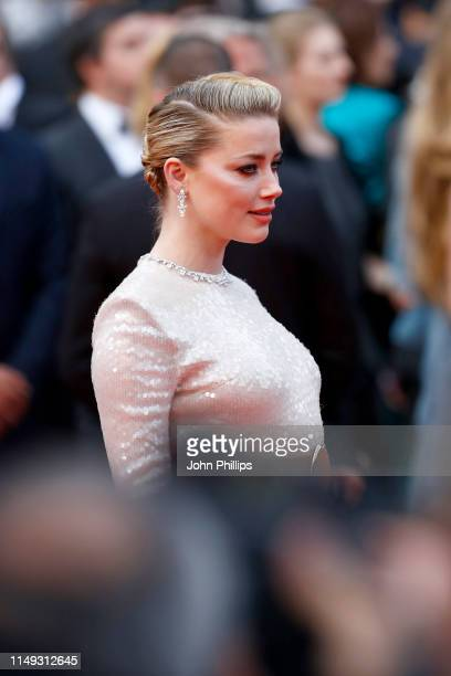 Amber Heard attends the screening of Les Miserables during the 72nd annual Cannes Film Festival on May 15 2019 in Cannes France
