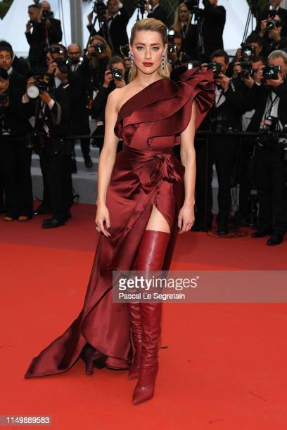"Amber Heard attends the screening of ""Pain And Glory "" during the 72nd annual Cannes Film Festival on May 17, 2019 in Cannes, France."