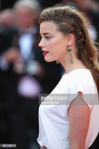 Amber Heard attends the Two Days One Night premiere during the 67th Annual Cannes Film Festival on May 20 2014 in Cannes France