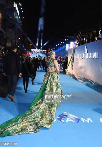 Amber Heard attends the World Premiere of 'Aquaman' at Cineworld Leicester Square on November 26 2018 in London England