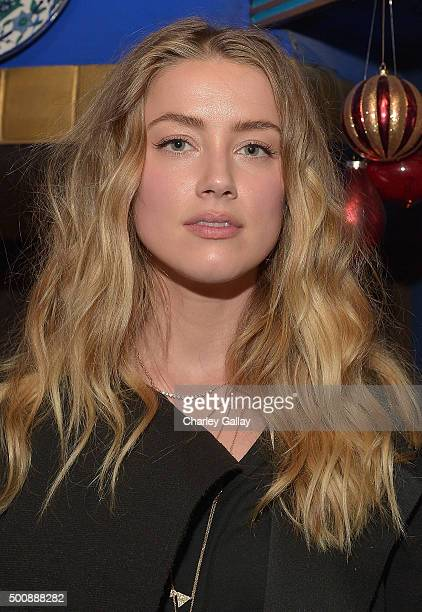 Amber Heard attends Timberland Celebrates Winter On the Modern Trail With Stylist Samantha McMillen on December 10 2015 in Los Angeles California