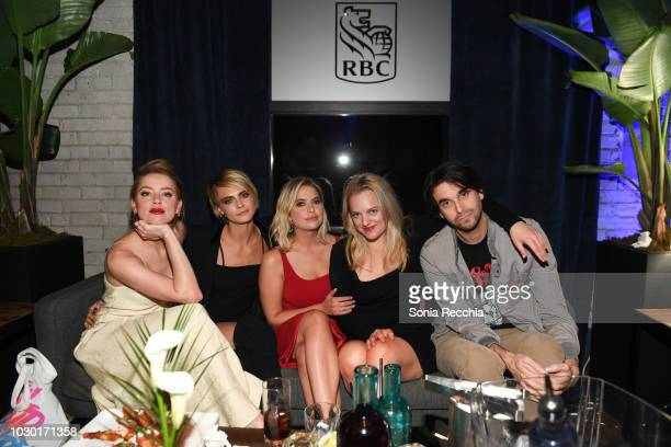 Amber Heard Cara Delevingne Ashley Benson Elisabeth Moss and Alex Ross Perry attend RBC hosted Her Smell cocktail party at RBC House Toronto Film...