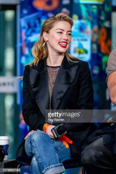 Amber Heard discusses 'Aquaman' with the Build Series at Build Studio on December 03 2018 in New York City