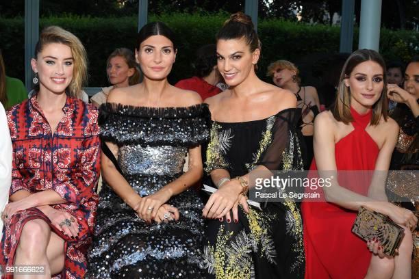 Amber Heard Giovanna Battaglia Bianca Brandolini and Olivia Palermo attend the Valentino Haute Couture Fall Winter 2018/2019 show as part of Paris...