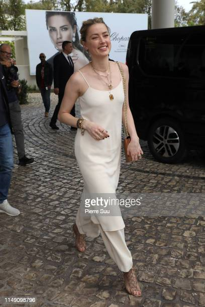 Amber Heard is seen at the Martinez Hotel during the 72nd annual Cannes Film Festival at on May 14, 2019 in Cannes, France.