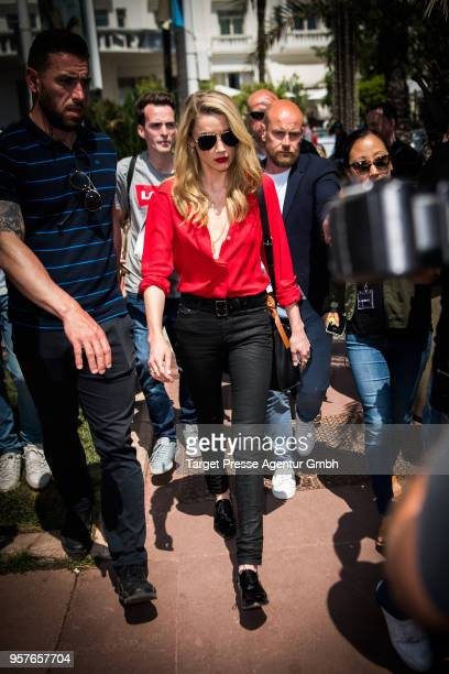 Amber Heard is seen during the 71st annual Cannes Film Festival at on May 12 2018 in Cannes France
