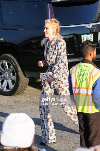 Amber Heard is seen on February 08 2020 in Los Angeles California