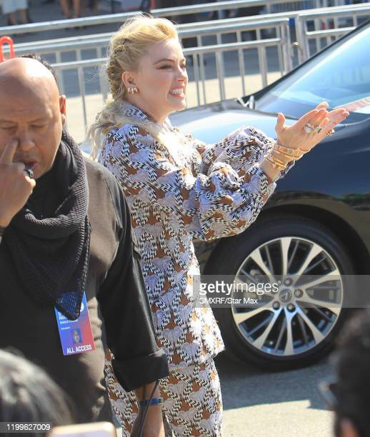 Amber Heard is seen on February 8 2020 in Los Angeles California