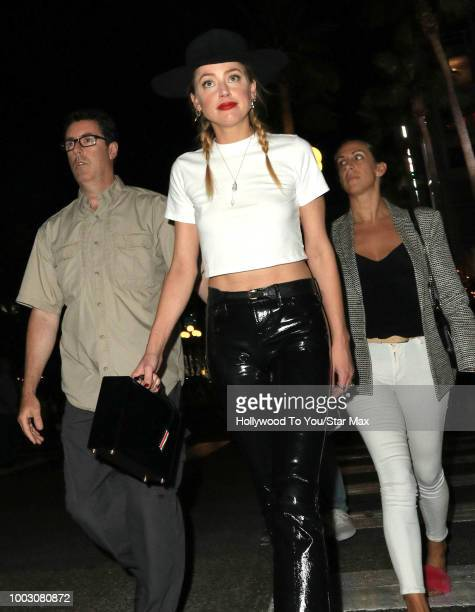 Amber Heard is seen on July 20 2018 at ComicCon in San Diego CA