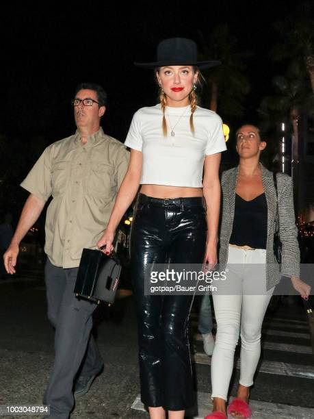 Amber Heard is seen on July 20 2018 in SAN DIEGO CAlifornia