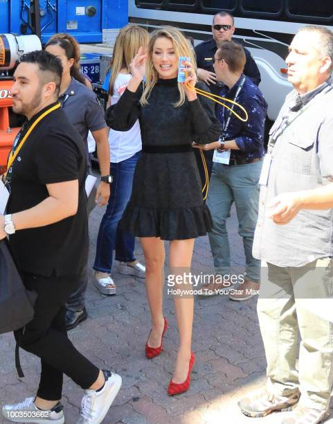 Amber Heard is seen on July 21 2018 at ComicCon in San Diego CA