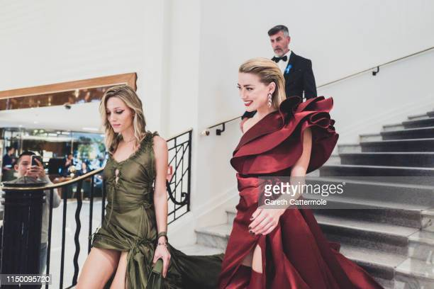 Amber Heard leaves the Martinez Hotel during the 72nd annual Cannes Film Festival on May 17 2019 in Cannes France