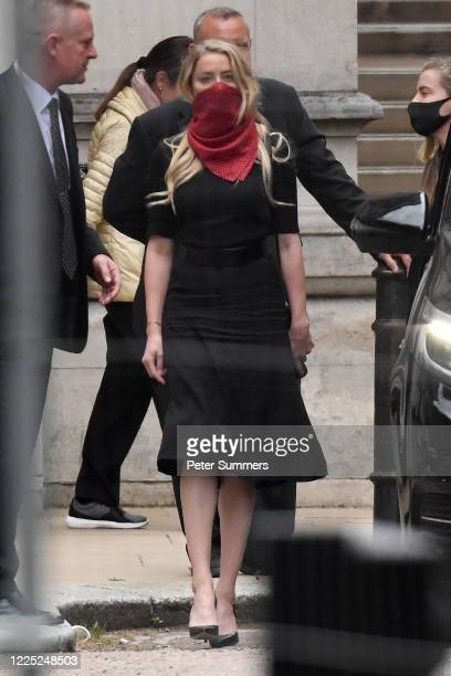 Amber Heard leaves The Royal Courts of Justice on the Strand on July 7 2020 in London England Hollywood actor Johnny Depp is taking News Group...