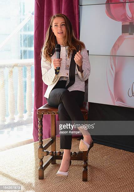 Amber Heard speaks at GUESS Girl Fragrance Launch at Palazzo Chupi on October 18 2012 in New York City