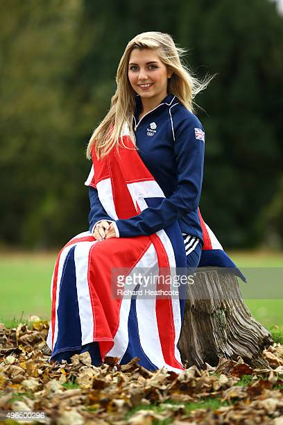 Amber Hill poses for a portrait during the Team GB announcement of the Shooting Team for Rio 2016 Olympic Games at Bisham Abbey on November 10 2015...