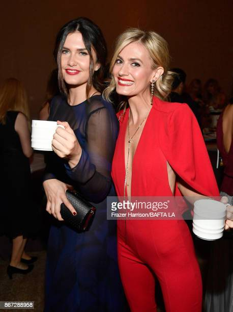 Amber Hodgkiss and Marah Fairclough attend the 2017 AMD British Academy Britannia Awards Presented by American Airlines And Jaguar Land Rover at The...