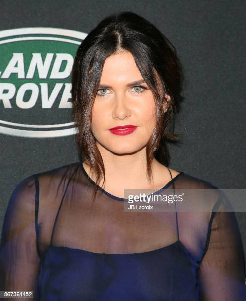 Amber Hodgkiss attends the 2017 AMD British Academy Britannia Awards presented by Jaguar Land Rover and American Airlines on October 28 2017 in Los...