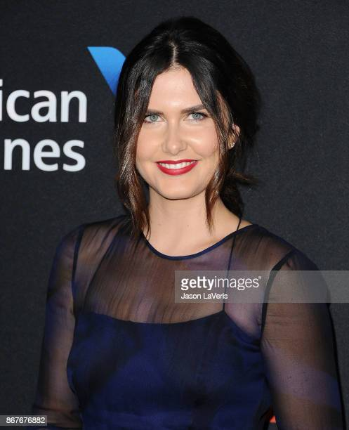 Amber Hodgkiss attends the 2017 AMD British Academy Britannia Awards at The Beverly Hilton Hotel on October 27 2017 in Beverly Hills California