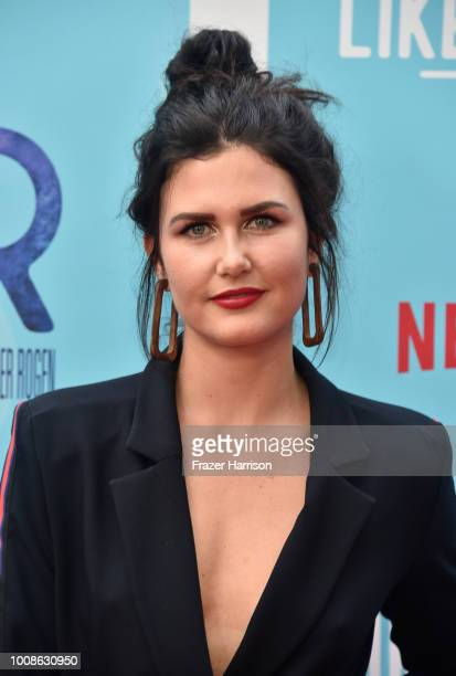 Amber Hodgkiss attends the premiere of Netflix's 'Like Father' at ArcLight Hollywood on July 31 2018 in Hollywood California