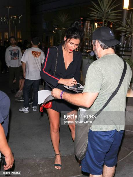 Amber Hodgkiss is seen on July 31 2018 in Los Angeles California