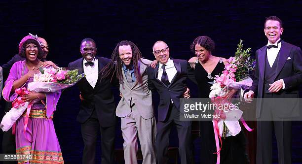 Amber Iman Brandon Victor Dixon Joshua Henry Savion Glover George C Wolfe Audra McDonald and Brian Stokes Mitchell during the Broadway Opening Night...
