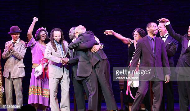 Amber Iman Brandon Victor Dixon Joshua Henry Savion Glover George C Wolfe Audra McDonald Brian Stokes Mitchell Daryl Waters during the Broadway...
