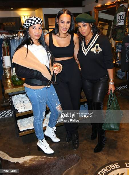 Amber Kessee Ashley North and Christina Michelle attend an event hosted by TV personality and fashion stylist Ashley North for her new an Style...
